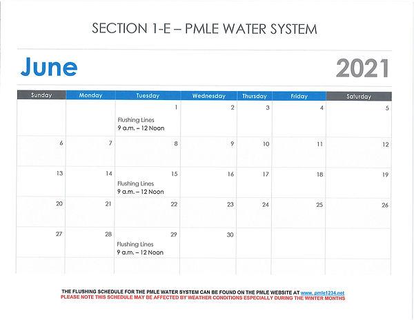 Water System - Water Flushing June 2021.