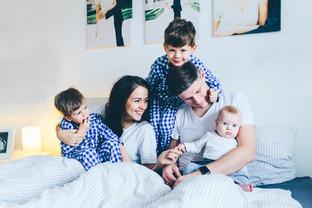 Fünferfamilie Fotoshooting