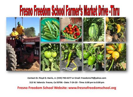 Fresno Freedom School's Drive Thru Farmers' Market!