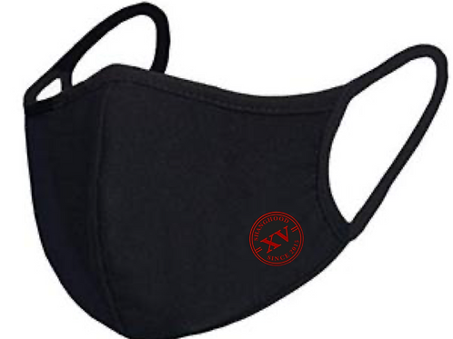 Reusable Logo Mask Red