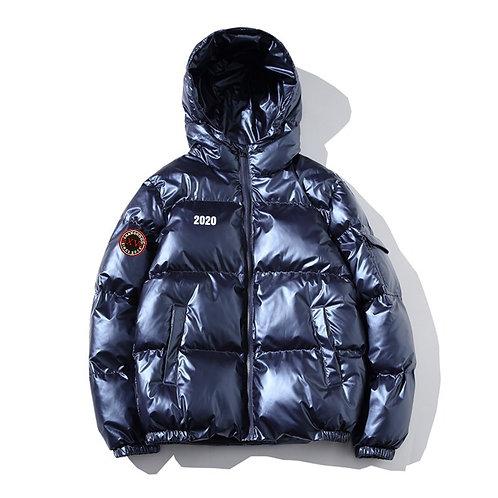 Shiny Treasure Blue Cotton Jacket FW19/20