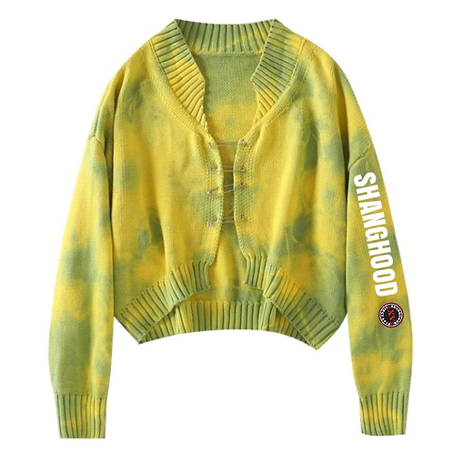 Ladies Tie Dye Knitwear Yellow