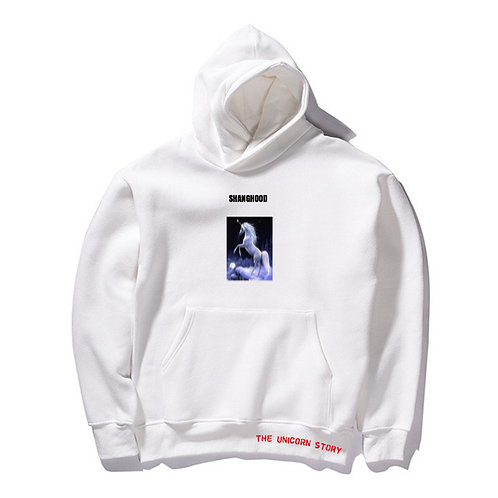 The Unicorn Story White Hoodies