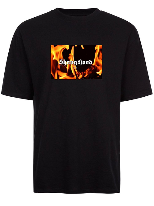 Paris SS2020 Fire Black Tee