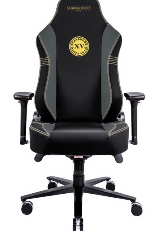 Grey Faux Gaming Chair