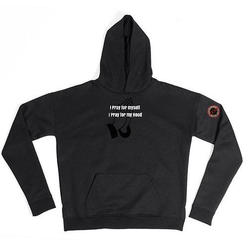 I Pray for myself black hoodie