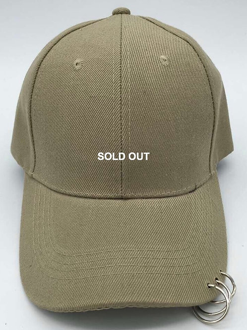 SOLD OUT Metalring Beige Cap