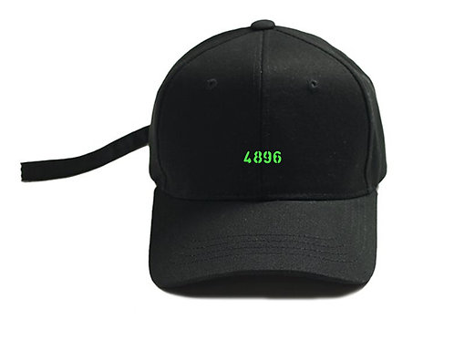4896 Long Strap Black Cap