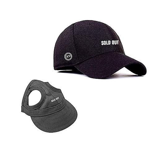 SHANG Dogs Signature Black Cap + Adult Cap Bundle