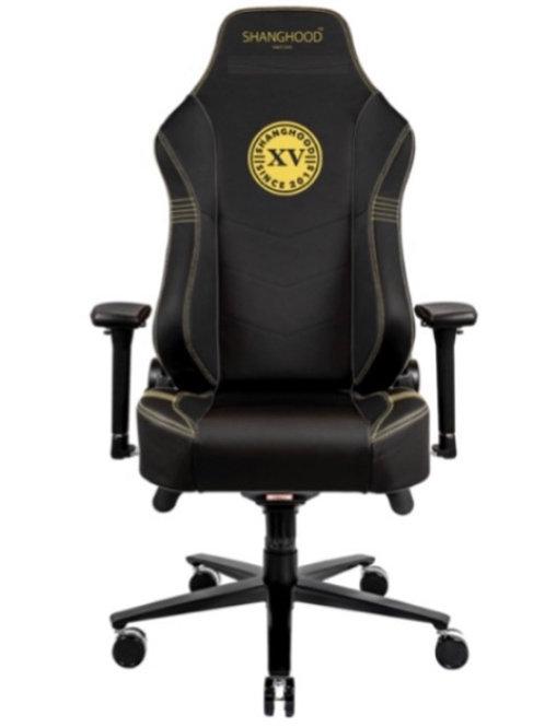 Black Faux Gaming Chair
