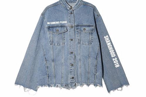 Ladies Ripped Denim Jacket 2018