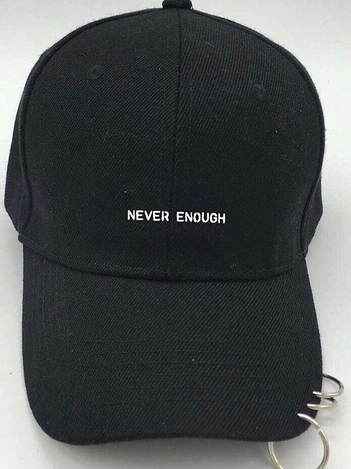 NEVER ENOUGH Metalring Black Cap