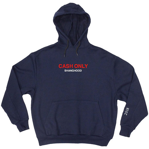CASH ONLY Navy Blue Hoodies