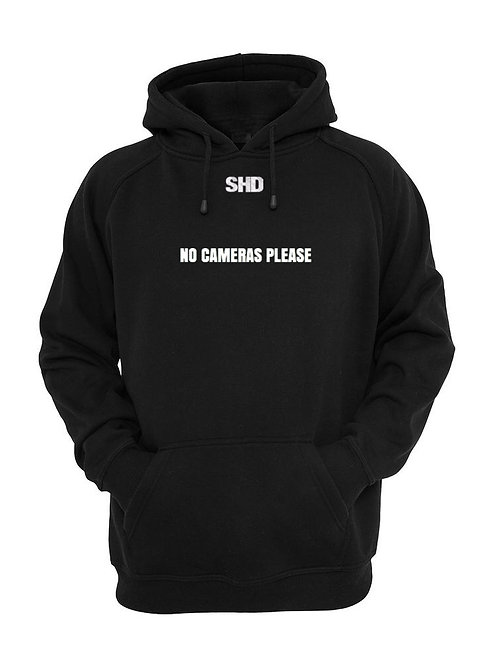 No Cameras Please Hoodies