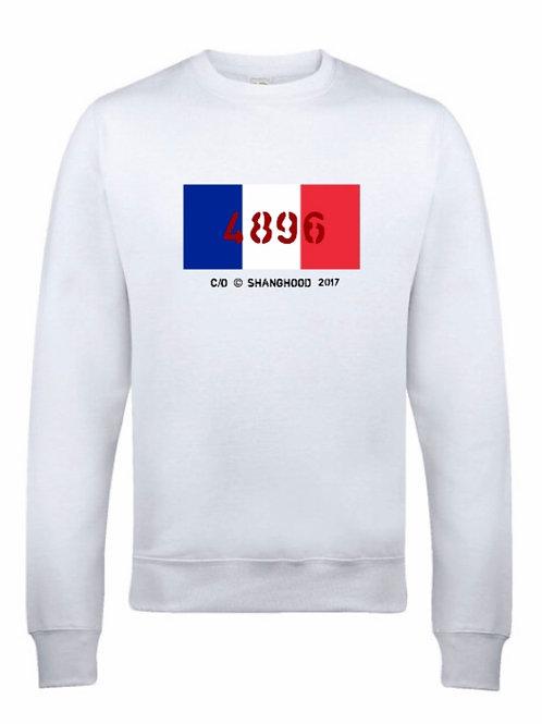 4896 Paris White Sweatshirt