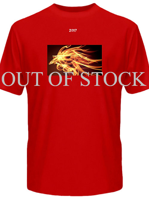Golden Fire Rooster Red Tee
