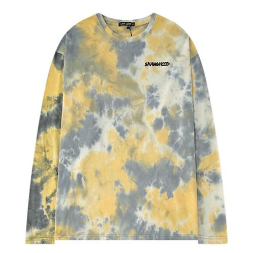 Yellow Tie Dye Long Sleeve Tee Shirt