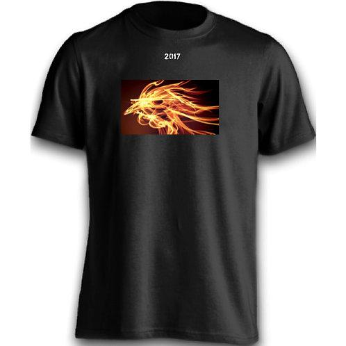 Golden Fire Rooster Black Tee