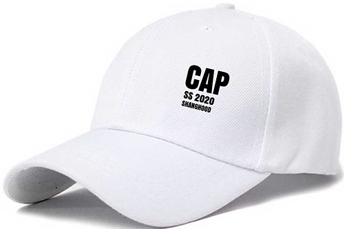 CAP Six Panel White Cap