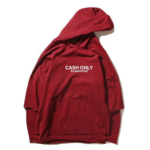 CASH ONLY Red Hoodies