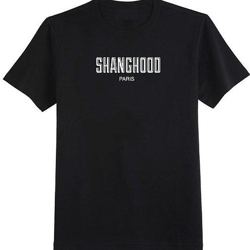 SHANGHOOD Paris Black Tee