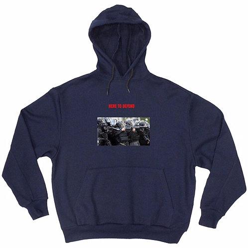 Here To Defend Navy Blue Hoodies