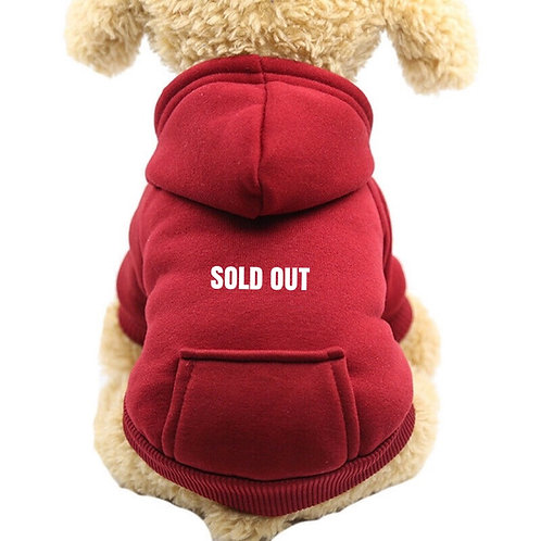 SHANG DOGS Sold Out Red Hoodie