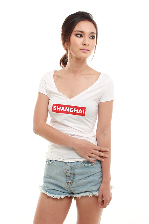 SHANGHAI Tee White