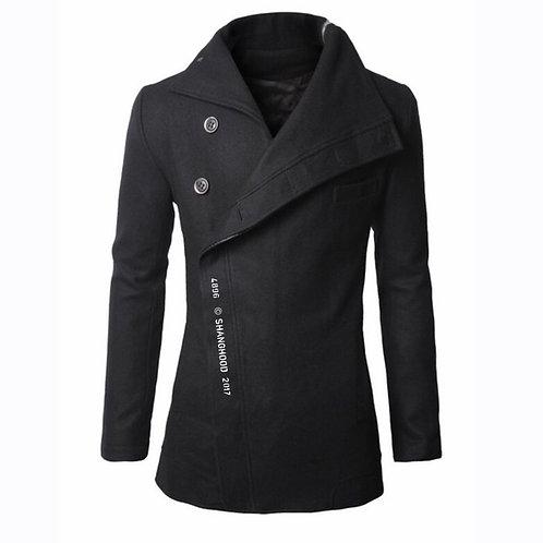4896 Wool Coat Black (White Font)
