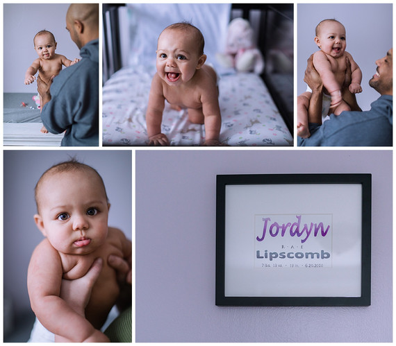 Jordyn's 6 Month Photos | At-Home Session, Pittsburgh, PA