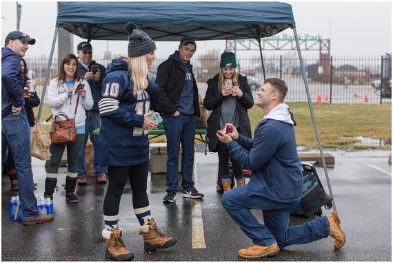 Chris + Taylor Proposal | Army vs Navy Tailgate