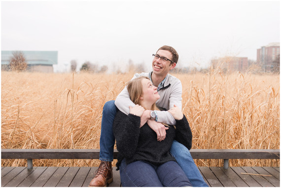 Brad + Chelsea Engagement | Penn State Arboretum and Spring Creek