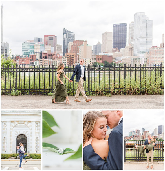 Caleb and Maddie's Engagement | Schenley Park and Station Square, Pittsburgh