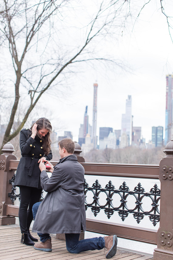 Anthony + Rebecca Proposal in Central Park