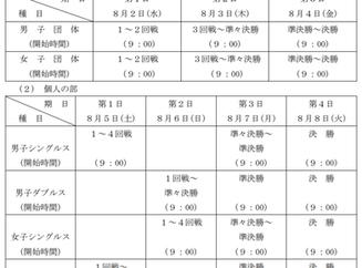 【ご案内】インターハイ(全国高等学校総合体育大会 )組み合わせ・日程・会場
