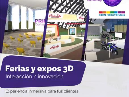 Ferias / expos virtuales 3D con avatar. Ver más...