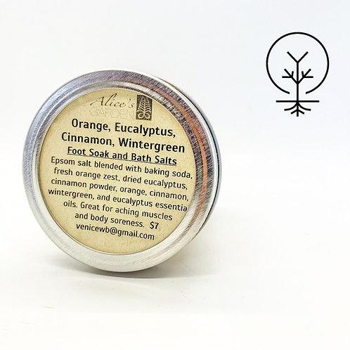 Alices Garden- Orange, Eucalyptus, Cinnamon, Wintergreen Foot Soak & Bath Salts