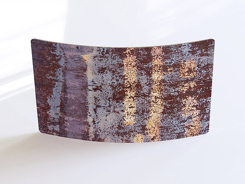 """Rust-Stochastic 1"" Curved Metal Print"