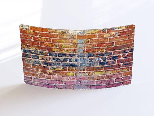 """""""Wilmington Brick"""" Curved Metal Print"""