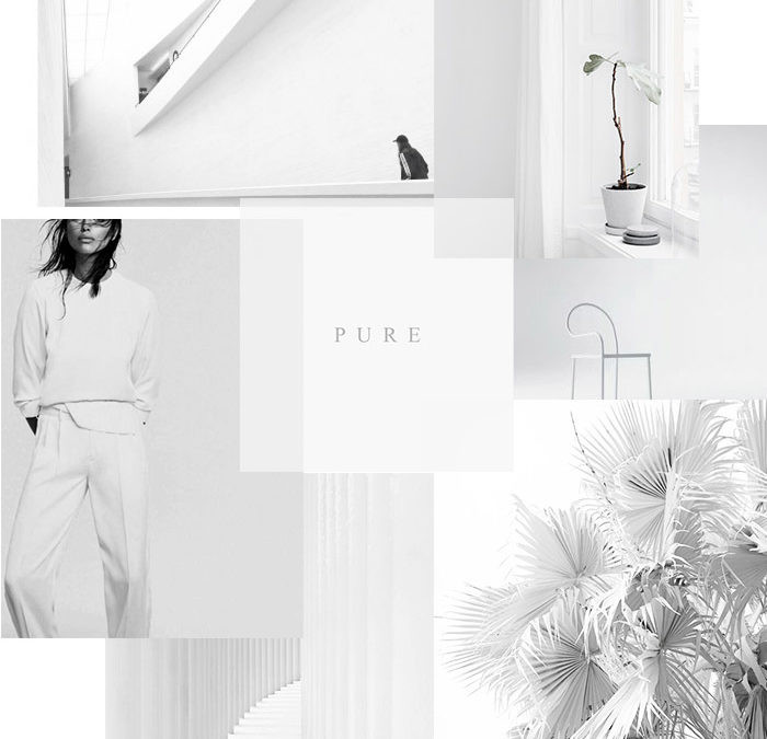 White mood board
