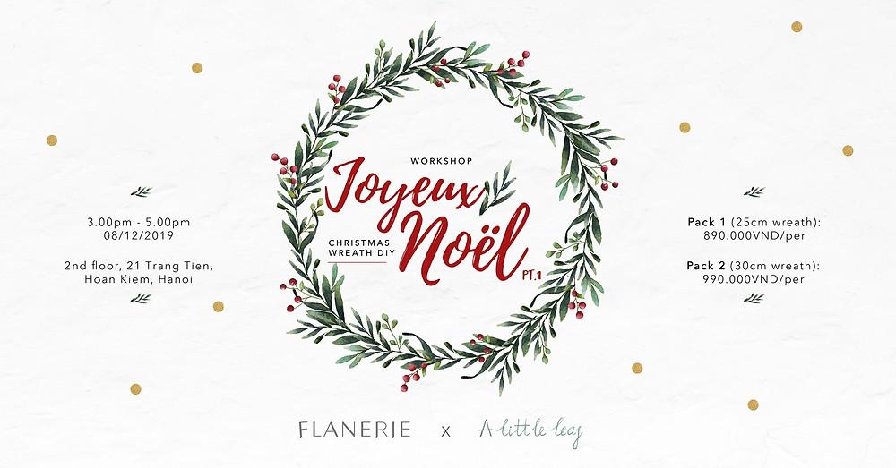 [Workshop 14] Joyeux Noël Pt.1: Christmas Wreath DIY
