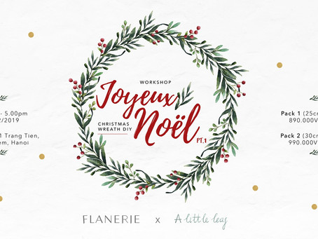 [Workshop 14] Joyeux Noël Pt.1: Christmas Wreath DIY