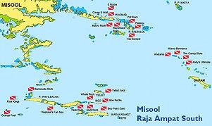Maps Dive Spot Misool