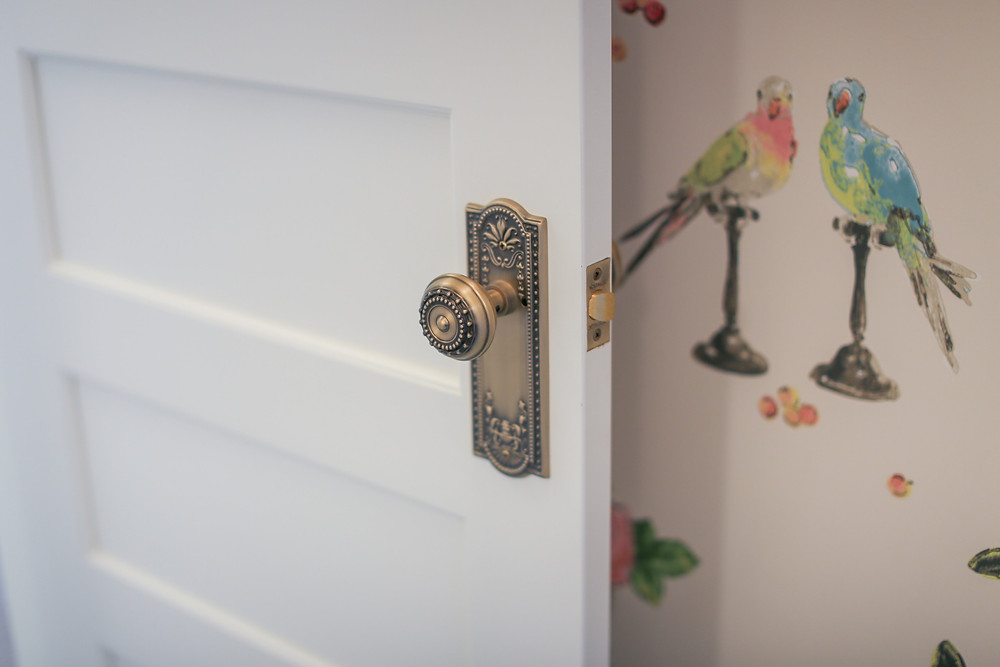 10 ways to add character to your home, change our your door hardware to something other than builder grade.