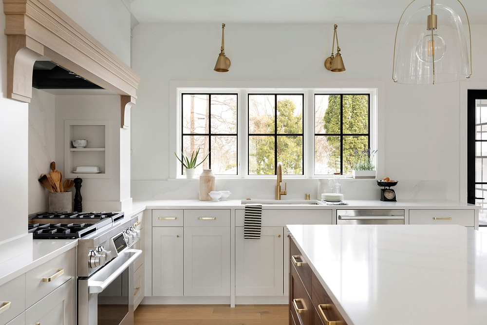Mixing finishes to complete the look in your custom kitchen remodel.