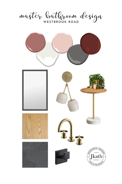 bathroom design, master bathroom design, master bathroom, quartzite, oak vanity