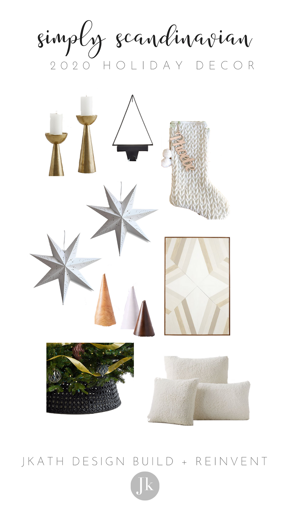 Simply Scandinavian Holiday Decorations