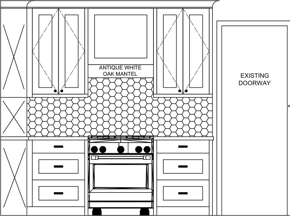 autocad 2D kitchen elevations