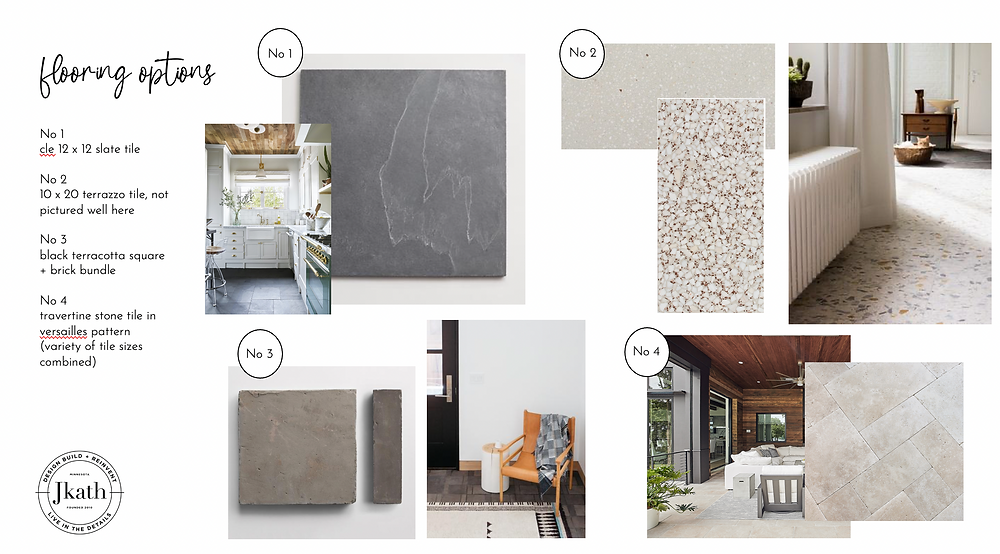 Mood board designs for a colonial kitchen refresh