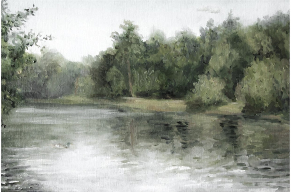 Watercolor on a creek